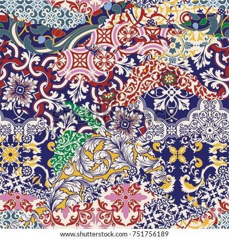 azulejos tiles patchwork