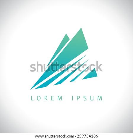 azure mountains in sunshine