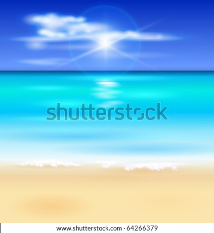 azure ocean  blue sky with
