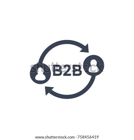 b2b icon on white Stockfoto ©