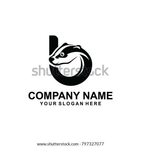 b badger logo vector