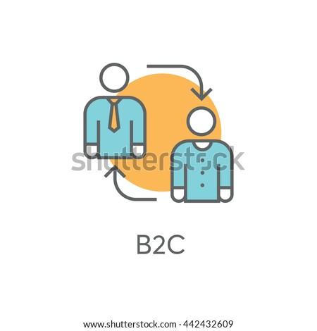 B2C Vector Icon