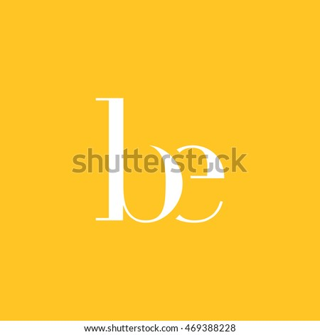 b   e letter logo  icon  vector