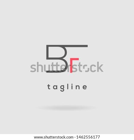 B F double letter logo design vector template Stock fotó ©