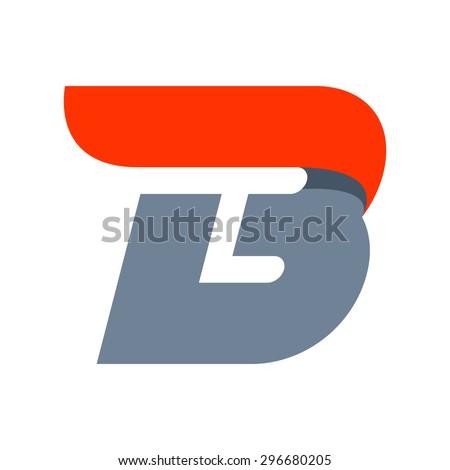 b letter logo design template