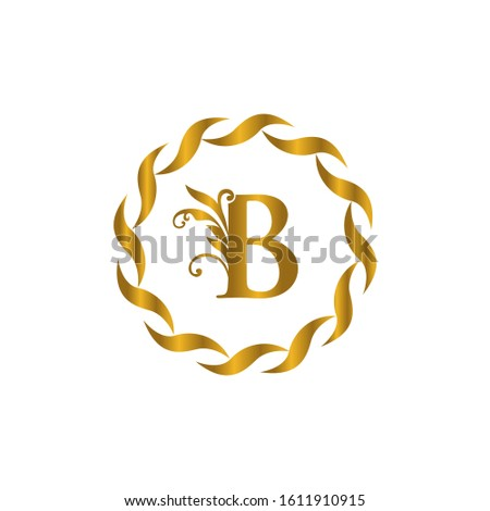 B letter vector logo.  letter vector logo. Letter B  leaves icon design template elements. Vector color sign. Luxury letter b logo