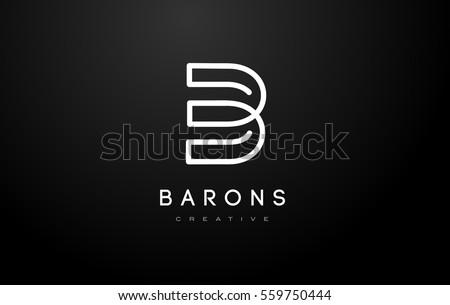 B Logo.B Letter Design Vector Illustration Modern Monogram Icon. Stock fotó ©
