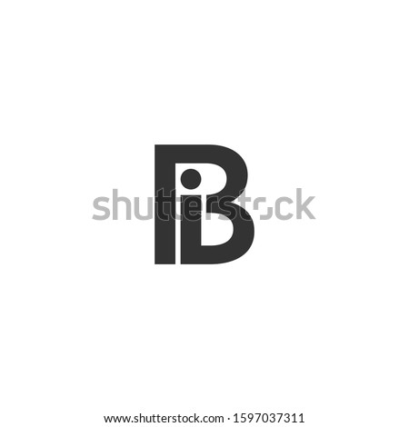 B Logo in two color variations. BI logo or IB Logo. Beautiful Logotype design for company branding Foto stock ©