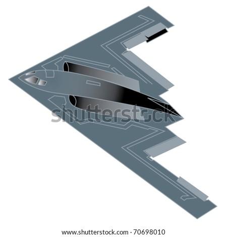 b 2 military bomber airplane