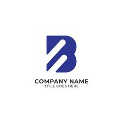B Modern Flat Logo Design   B Logo   B Letter Logo Template