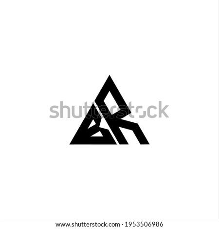 b r letter logo creative design