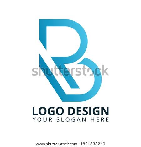 B R Letter Unique Brand Logo Design Vector Stock fotó ©