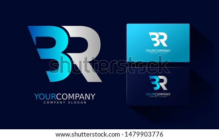 b r logo and business card br