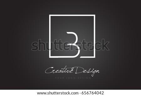 b square framed letter logo