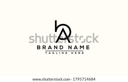 BA Logo Design Template Vector Graphic Branding Element. Zdjęcia stock ©