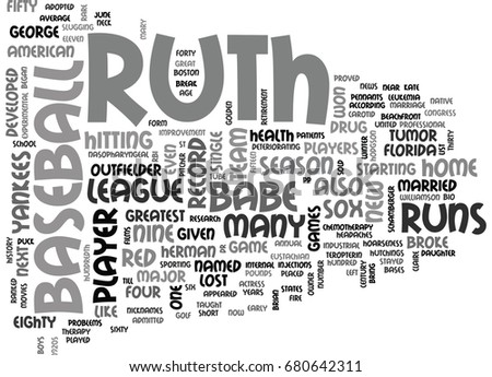 babe ruth short essay Persuasive essay on babe ruth george herman ruth junior, also known as babe ruth and arguably the greatest baseball player who ever lived, was born on february 6, 1894.