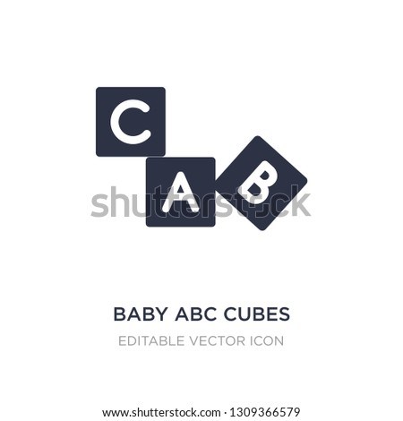 baby abc cubes icon on white background. Simple element illustration from Education concept. baby abc cubes icon symbol design.