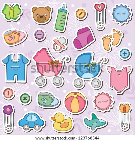 Baby Accessories Clip Art