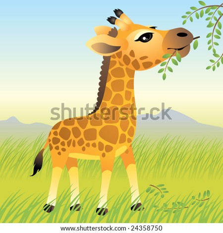 Baby Animal collection: Giraffe\\ \\ More baby animals in my portfolio.