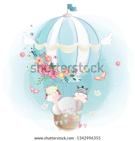 Baby Animals in the Air Balloon