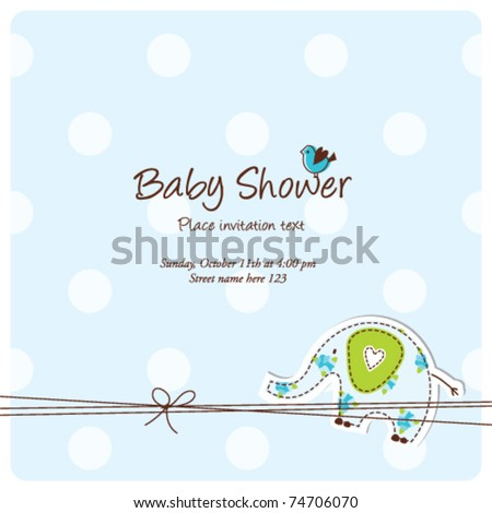 Baby arrival card - Baby shower invitation card