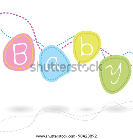 baby arrival card for baby theme, celebration and others