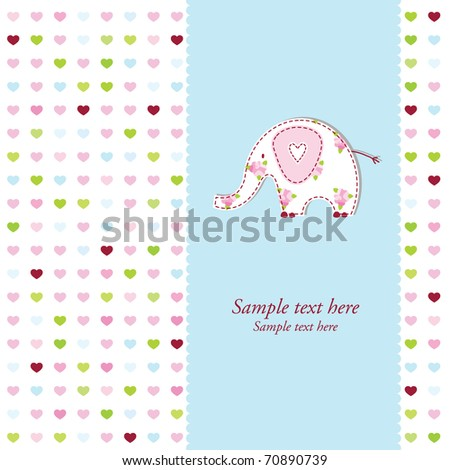 Baby arrival card with copy space - stock vector