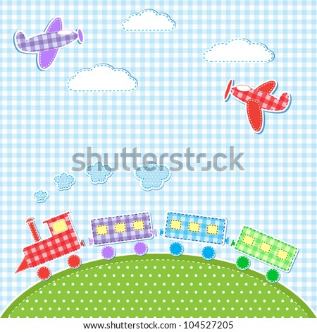 baby background with aircrafts