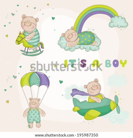 baby bear set   baby shower or