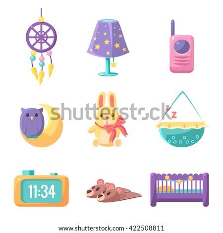 baby bedroom elements set of