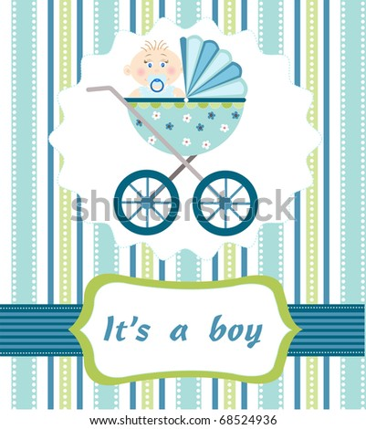 baby boy arrival - stock vector