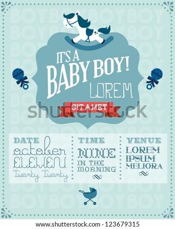 baby boy baby shower invitation ...