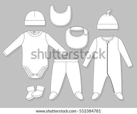 baby boy clothes set flat
