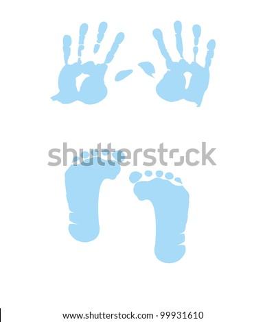 baby boy handprint - footprint