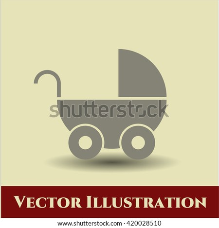 Baby Cart icon or symbol