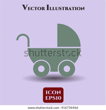 Baby Cart vector icon
