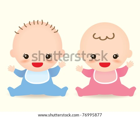 Baby characters vector graphics