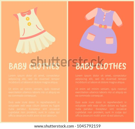 baby clothes two colorful