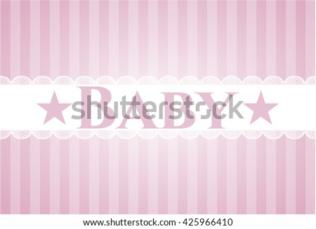 Baby colorful card, banner or poster with nice design