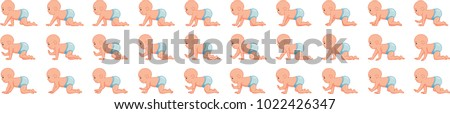 Baby crawling animation sprite sheet