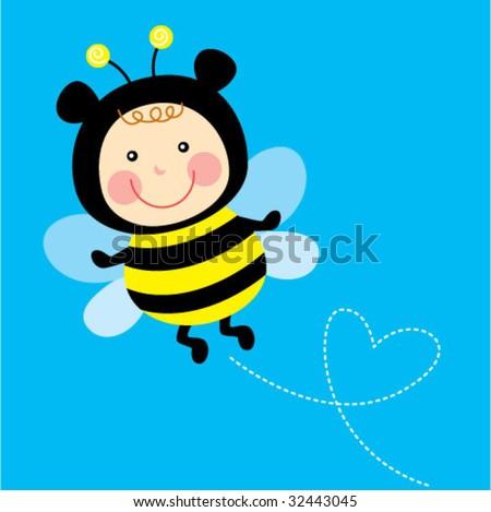 Cute Bee Logo Baby Cute Bee