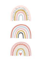 Baby cute rainbow graphic illustration