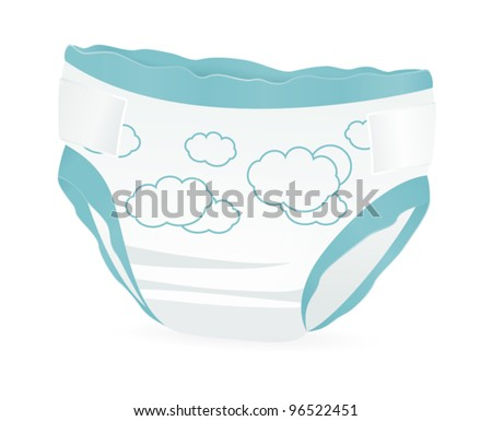 Baby Diaper Illustration Baby Diapers With Funny