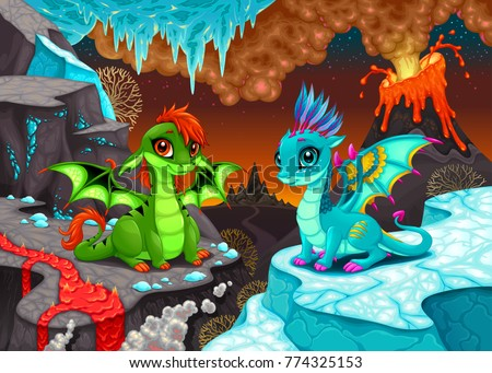 baby dragons in a fantasy