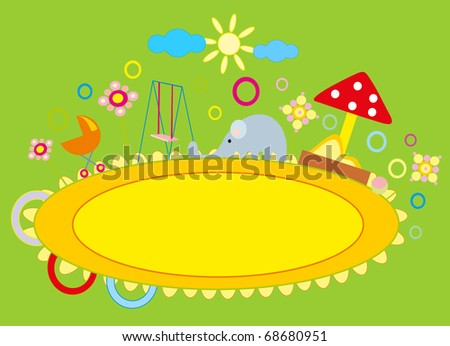 Baby Drawing - A Nursery Playground Stock Vector Illustration ...