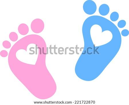 baby feet  footprint  hearts