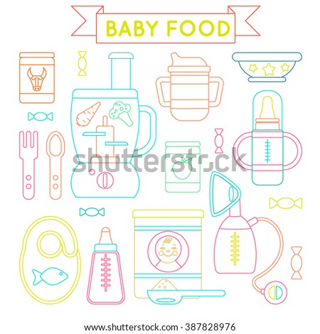 baby food and supplies   set of