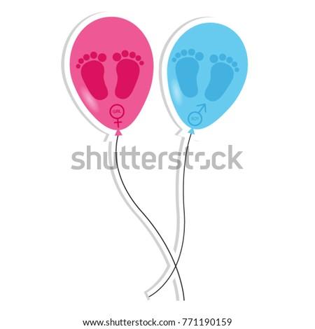 baby footprint and balloons