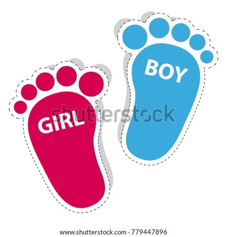 baby footprint   girl and boy