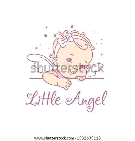 baby girl as princess logo for